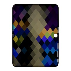 Background Of Blue Gold Brown Tan Purple Diamonds Samsung Galaxy Tab 4 (10.1 ) Hardshell Case