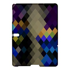 Background Of Blue Gold Brown Tan Purple Diamonds Samsung Galaxy Tab S (10.5 ) Hardshell Case