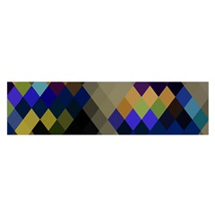 Background Of Blue Gold Brown Tan Purple Diamonds Satin Scarf (oblong)