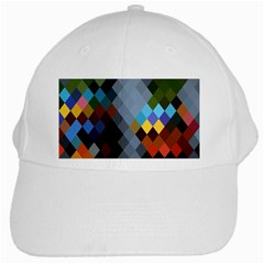 Diamond Abstract Background Background Of Diamonds In Colors Of Orange Yellow Green Blue And More White Cap