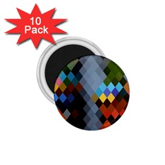 Diamond Abstract Background Background Of Diamonds In Colors Of Orange Yellow Green Blue And More 1.75  Magnets (10 pack)