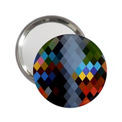 Diamond Abstract Background Background Of Diamonds In Colors Of Orange Yellow Green Blue And More 2 25  Handbag Mirrors