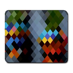 Diamond Abstract Background Background Of Diamonds In Colors Of Orange Yellow Green Blue And More Large Mousepads