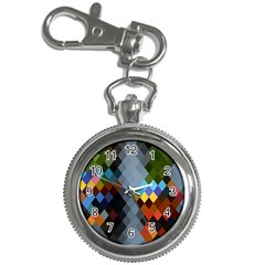 Diamond Abstract Background Background Of Diamonds In Colors Of Orange Yellow Green Blue And More Key Chain Watches