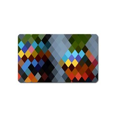 Diamond Abstract Background Background Of Diamonds In Colors Of Orange Yellow Green Blue And More Magnet (name Card)