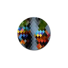 Diamond Abstract Background Background Of Diamonds In Colors Of Orange Yellow Green Blue And More Golf Ball Marker (4 pack)