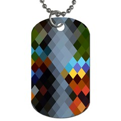 Diamond Abstract Background Background Of Diamonds In Colors Of Orange Yellow Green Blue And More Dog Tag (two Sides)