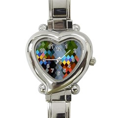 Diamond Abstract Background Background Of Diamonds In Colors Of Orange Yellow Green Blue And More Heart Italian Charm Watch
