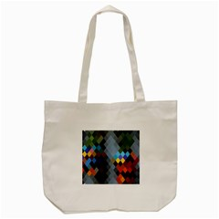 Diamond Abstract Background Background Of Diamonds In Colors Of Orange Yellow Green Blue And More Tote Bag (Cream)
