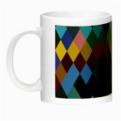 Diamond Abstract Background Background Of Diamonds In Colors Of Orange Yellow Green Blue And More Night Luminous Mugs