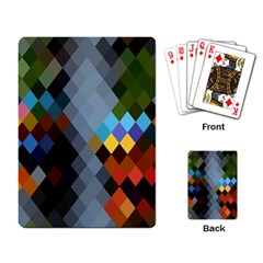 Diamond Abstract Background Background Of Diamonds In Colors Of Orange Yellow Green Blue And More Playing Card
