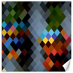 Diamond Abstract Background Background Of Diamonds In Colors Of Orange Yellow Green Blue And More Canvas 16  x 16
