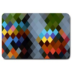 Diamond Abstract Background Background Of Diamonds In Colors Of Orange Yellow Green Blue And More Large Doormat