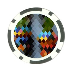 Diamond Abstract Background Background Of Diamonds In Colors Of Orange Yellow Green Blue And More Poker Chip Card Guard