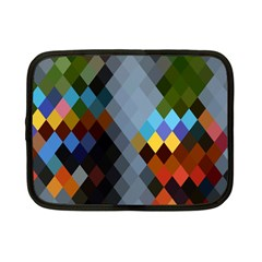 Diamond Abstract Background Background Of Diamonds In Colors Of Orange Yellow Green Blue And More Netbook Case (small)