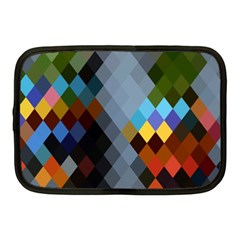 Diamond Abstract Background Background Of Diamonds In Colors Of Orange Yellow Green Blue And More Netbook Case (Medium)