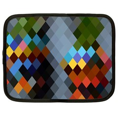 Diamond Abstract Background Background Of Diamonds In Colors Of Orange Yellow Green Blue And More Netbook Case (large)