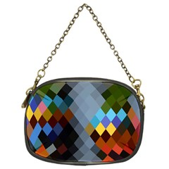 Diamond Abstract Background Background Of Diamonds In Colors Of Orange Yellow Green Blue And More Chain Purses (Two Sides)