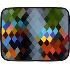 Diamond Abstract Background Background Of Diamonds In Colors Of Orange Yellow Green Blue And More Double Sided Fleece Blanket (Mini)