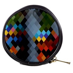 Diamond Abstract Background Background Of Diamonds In Colors Of Orange Yellow Green Blue And More Mini Makeup Bags