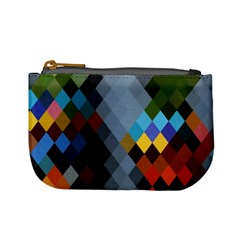 Diamond Abstract Background Background Of Diamonds In Colors Of Orange Yellow Green Blue And More Mini Coin Purses