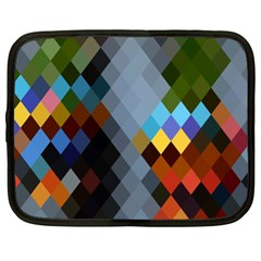 Diamond Abstract Background Background Of Diamonds In Colors Of Orange Yellow Green Blue And More Netbook Case (XL)