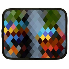 Diamond Abstract Background Background Of Diamonds In Colors Of Orange Yellow Green Blue And More Netbook Case (XXL)