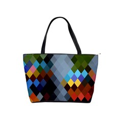 Diamond Abstract Background Background Of Diamonds In Colors Of Orange Yellow Green Blue And More Shoulder Handbags