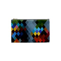 Diamond Abstract Background Background Of Diamonds In Colors Of Orange Yellow Green Blue And More Cosmetic Bag (small)