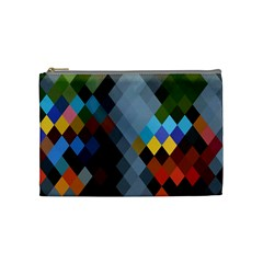 Diamond Abstract Background Background Of Diamonds In Colors Of Orange Yellow Green Blue And More Cosmetic Bag (Medium)