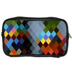 Diamond Abstract Background Background Of Diamonds In Colors Of Orange Yellow Green Blue And More Toiletries Bags 2-Side