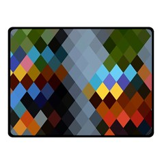 Diamond Abstract Background Background Of Diamonds In Colors Of Orange Yellow Green Blue And More Fleece Blanket (Small)