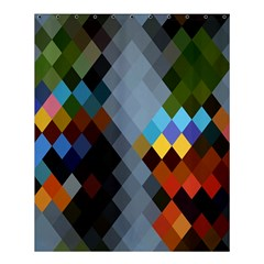 Diamond Abstract Background Background Of Diamonds In Colors Of Orange Yellow Green Blue And More Shower Curtain 60  x 72  (Medium)