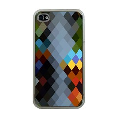 Diamond Abstract Background Background Of Diamonds In Colors Of Orange Yellow Green Blue And More Apple iPhone 4 Case (Clear)