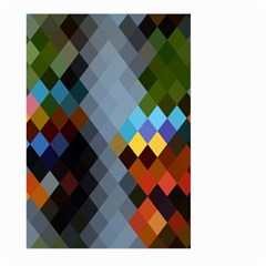 Diamond Abstract Background Background Of Diamonds In Colors Of Orange Yellow Green Blue And More Large Garden Flag (two Sides)