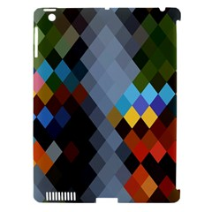Diamond Abstract Background Background Of Diamonds In Colors Of Orange Yellow Green Blue And More Apple iPad 3/4 Hardshell Case (Compatible with Smart Cover)