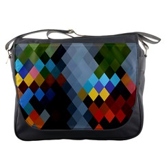 Diamond Abstract Background Background Of Diamonds In Colors Of Orange Yellow Green Blue And More Messenger Bags