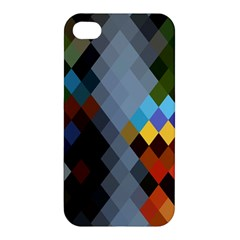 Diamond Abstract Background Background Of Diamonds In Colors Of Orange Yellow Green Blue And More Apple iPhone 4/4S Premium Hardshell Case