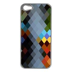 Diamond Abstract Background Background Of Diamonds In Colors Of Orange Yellow Green Blue And More Apple Iphone 5 Case (silver)