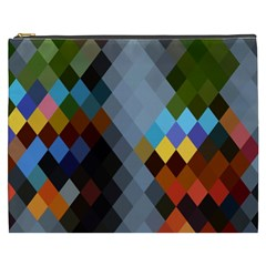 Diamond Abstract Background Background Of Diamonds In Colors Of Orange Yellow Green Blue And More Cosmetic Bag (xxxl)