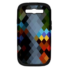 Diamond Abstract Background Background Of Diamonds In Colors Of Orange Yellow Green Blue And More Samsung Galaxy S Iii Hardshell Case (pc+silicone)