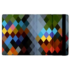 Diamond Abstract Background Background Of Diamonds In Colors Of Orange Yellow Green Blue And More Apple iPad 3/4 Flip Case