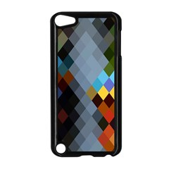 Diamond Abstract Background Background Of Diamonds In Colors Of Orange Yellow Green Blue And More Apple Ipod Touch 5 Case (black)