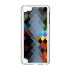 Diamond Abstract Background Background Of Diamonds In Colors Of Orange Yellow Green Blue And More Apple Ipod Touch 5 Case (white)