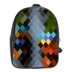 Diamond Abstract Background Background Of Diamonds In Colors Of Orange Yellow Green Blue And More School Bags (XL)