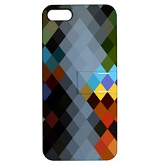 Diamond Abstract Background Background Of Diamonds In Colors Of Orange Yellow Green Blue And More Apple Iphone 5 Hardshell Case With Stand