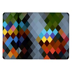 Diamond Abstract Background Background Of Diamonds In Colors Of Orange Yellow Green Blue And More Samsung Galaxy Tab 10 1  P7500 Flip Case