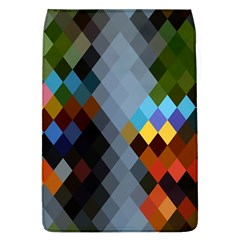 Diamond Abstract Background Background Of Diamonds In Colors Of Orange Yellow Green Blue And More Flap Covers (l)