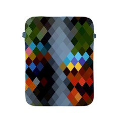 Diamond Abstract Background Background Of Diamonds In Colors Of Orange Yellow Green Blue And More Apple Ipad 2/3/4 Protective Soft Cases