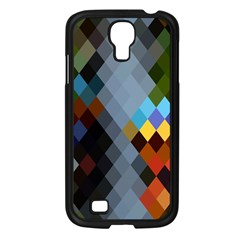 Diamond Abstract Background Background Of Diamonds In Colors Of Orange Yellow Green Blue And More Samsung Galaxy S4 I9500/ I9505 Case (black)